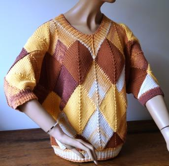 "Patchwork-Pullover""Sommertag"""