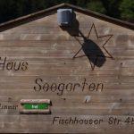 Haus Seegarten-Schild
