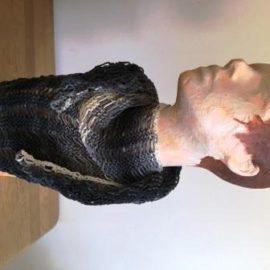 Sommerdreieckschal aus einem 100 g- Knäuel mit Fallmaschen
