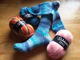 Trekking-Socken mit Jacquard-Streifen