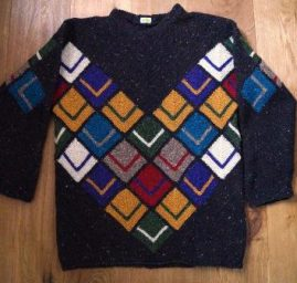 Herren-Tweedpullover Patchwork