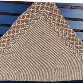 Mosaiktuch aus YAK Wolle