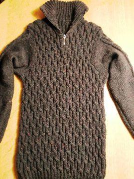 Herrenpullover Kinzigtal – Variante in Hanf Bicolor und Trekking XXL Tweed