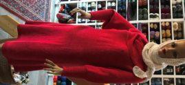 Lady in Red: Purer Luxus in Yak und Seide