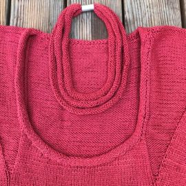 """Dreiteilige Kette passend zum Pullover """"Dreiecksumrundung"""" (Modell: Inge Geilsk)"""