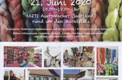 20. Juni 2021 2. Auersmacher Wollfest