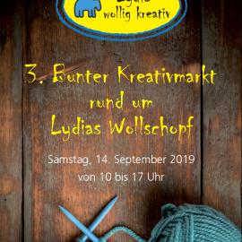 14. September 2019 Bunter Kreativmarkt rund um Lydias Wollschopf