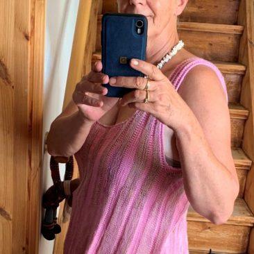 Sommertraum in Rosa: Sommertop aus Traumseide und Echt