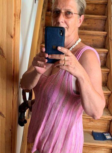 Sommertraum in Rosa:Sommertopp aus Traumseide und Echt