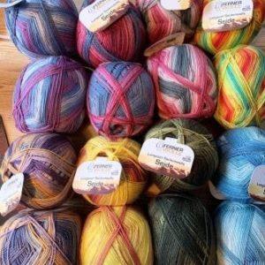 Ferner Wolle Lungauer Sockenwolle mit Seide 100 g Knäuel
