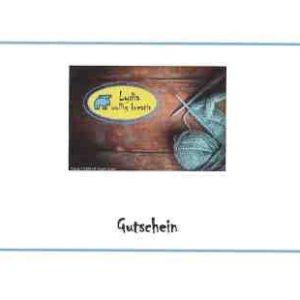 Gutschein – Postversand, wenn gewünscht personalisiert
