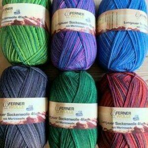 Ferner Lungauer Sockenwolle neue Farben 2021 4fach mit Merinowolle 100 g Knäuel