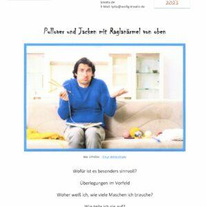 RVO – Allgemeine Information zum Erstellen eines eigenen Pullovers